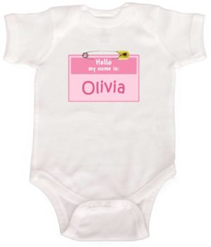 Personalized Baby Girl Romper