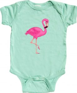 Pink Flamingo Girl Romper
