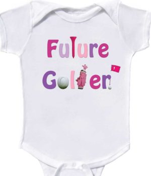 Girl Future Golfer Bodysuit