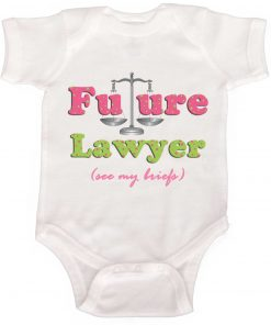 Girl Future Lawyer bodysuit