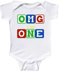 Funny first birthday romper