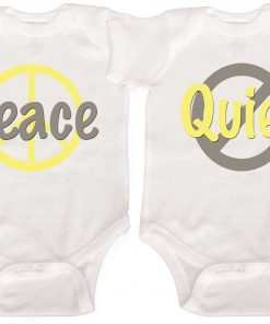 Funny Twin Baby Bodysuits
