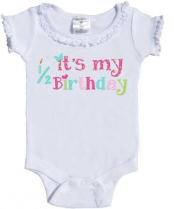 Girls Half-Birthday Romper