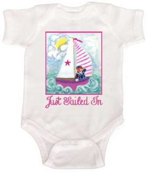 Nautical Baby Girl Romper