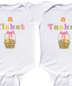 Twin Girls Easter Rompers
