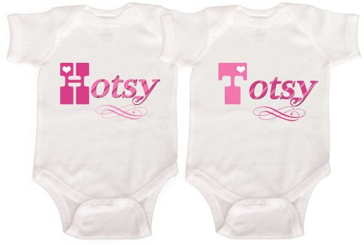 Twin Baby Girl Rompers