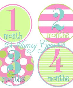 Girls 12 Month Stickers.