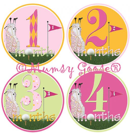 GIrls Pink Month Stickers