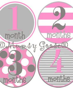 girl month by month stickers