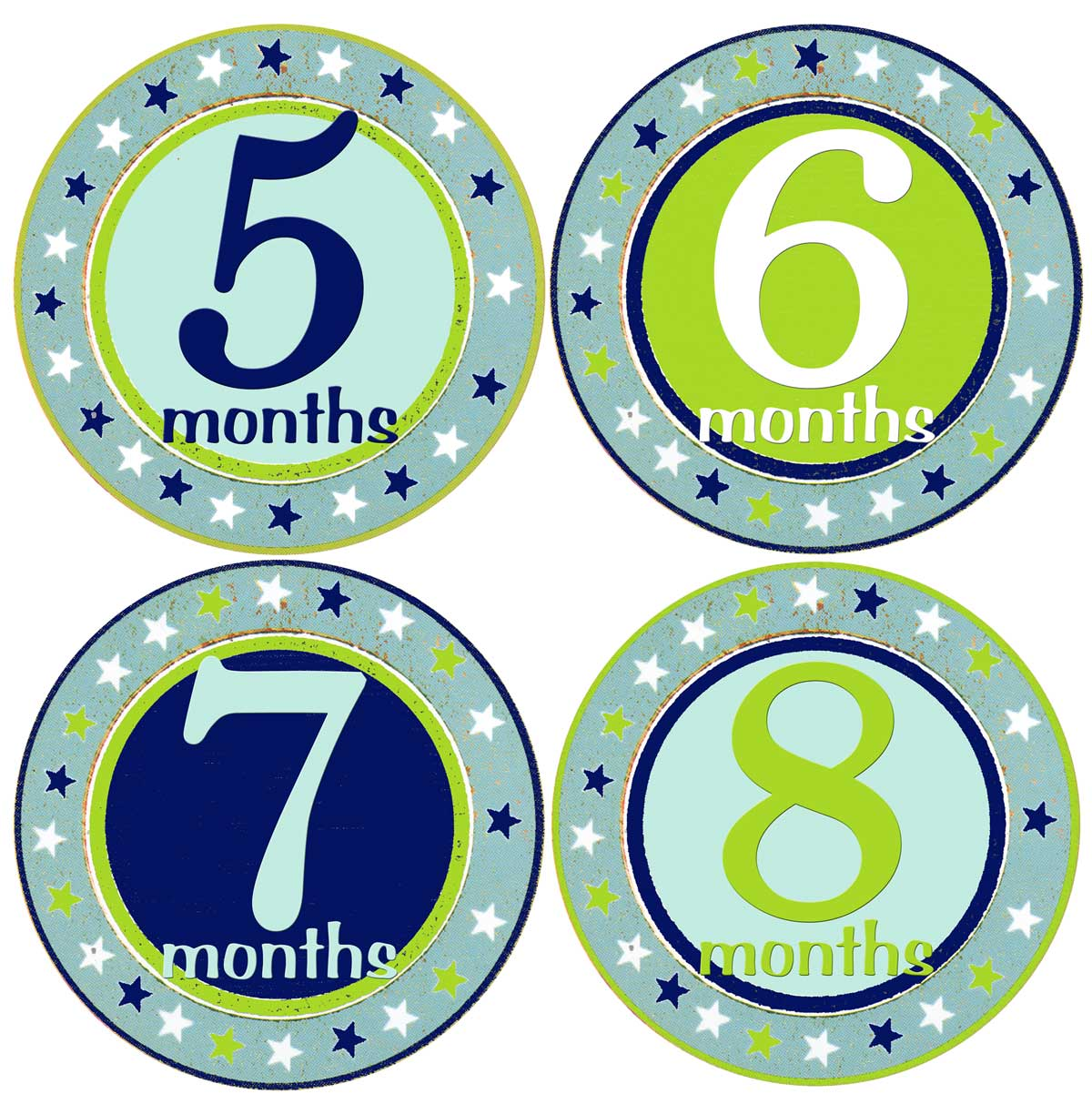 boy baby month stickers blue milestone star stickers mumsy goose