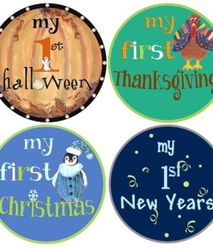 boys 1st holidays stickers