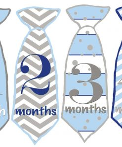 Boy one Month Tie Stickers