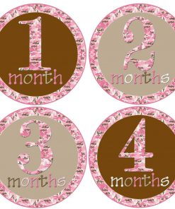 Baby Girls 1st Year Month Stickers
