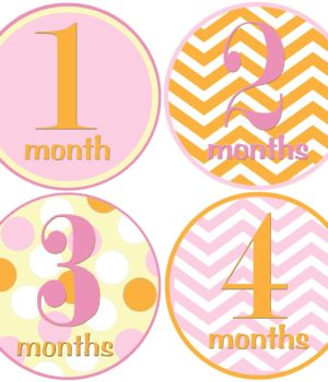 baby girl one month stickers