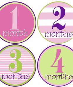 Baby Girl Age Stickers