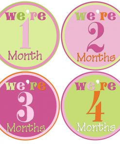 Twin Girls Month Stickers