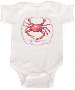Pink Crab Baby Girl Bodysuit