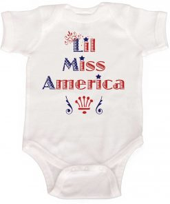 Baby Girl Miss America bodysuit