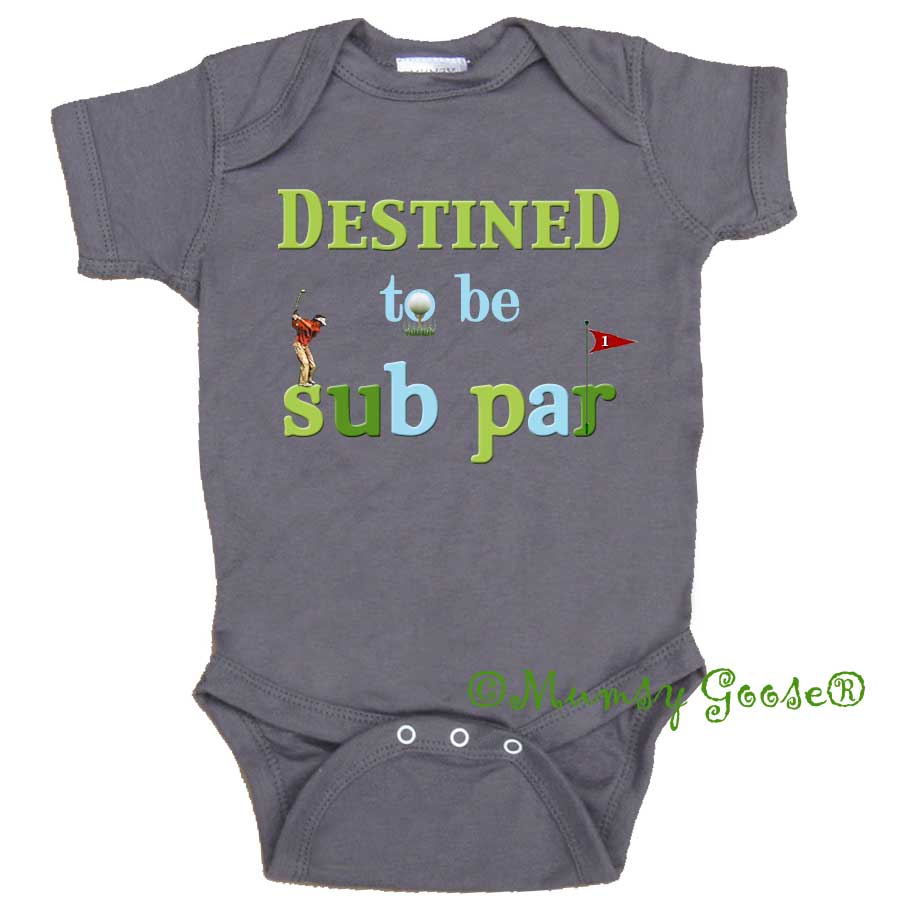 Funny Baby Golf Bodysuit