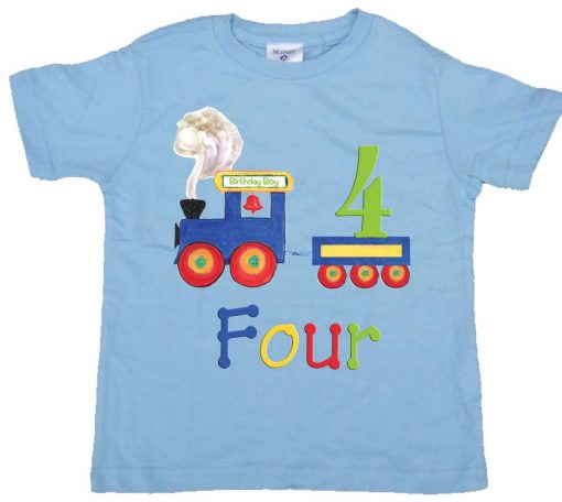 Boys 4th Birthday Tee Shirt