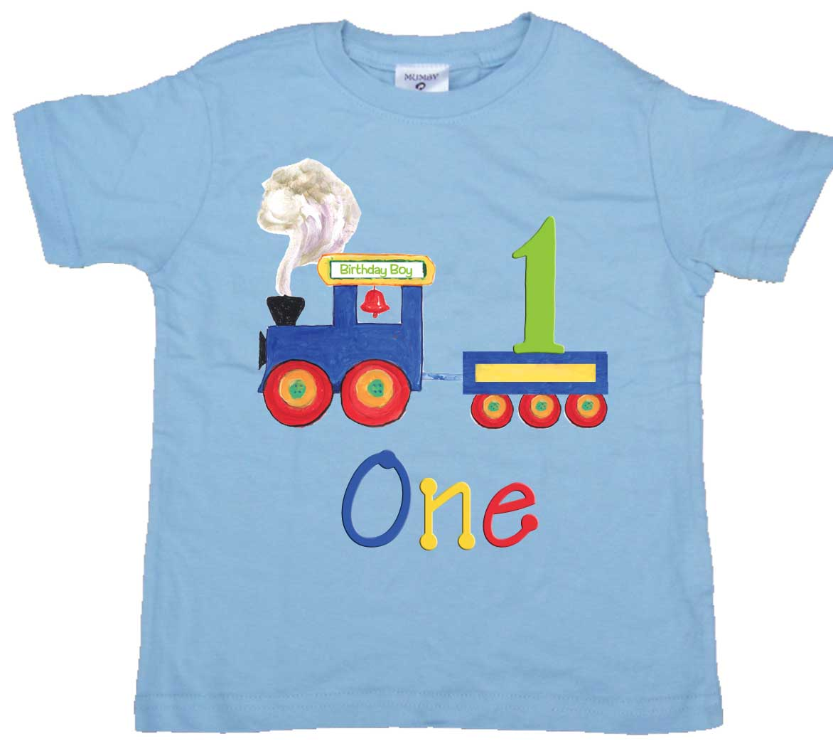 Boys 2nd Birthday Tee Shirt Number Two Train Tshirt