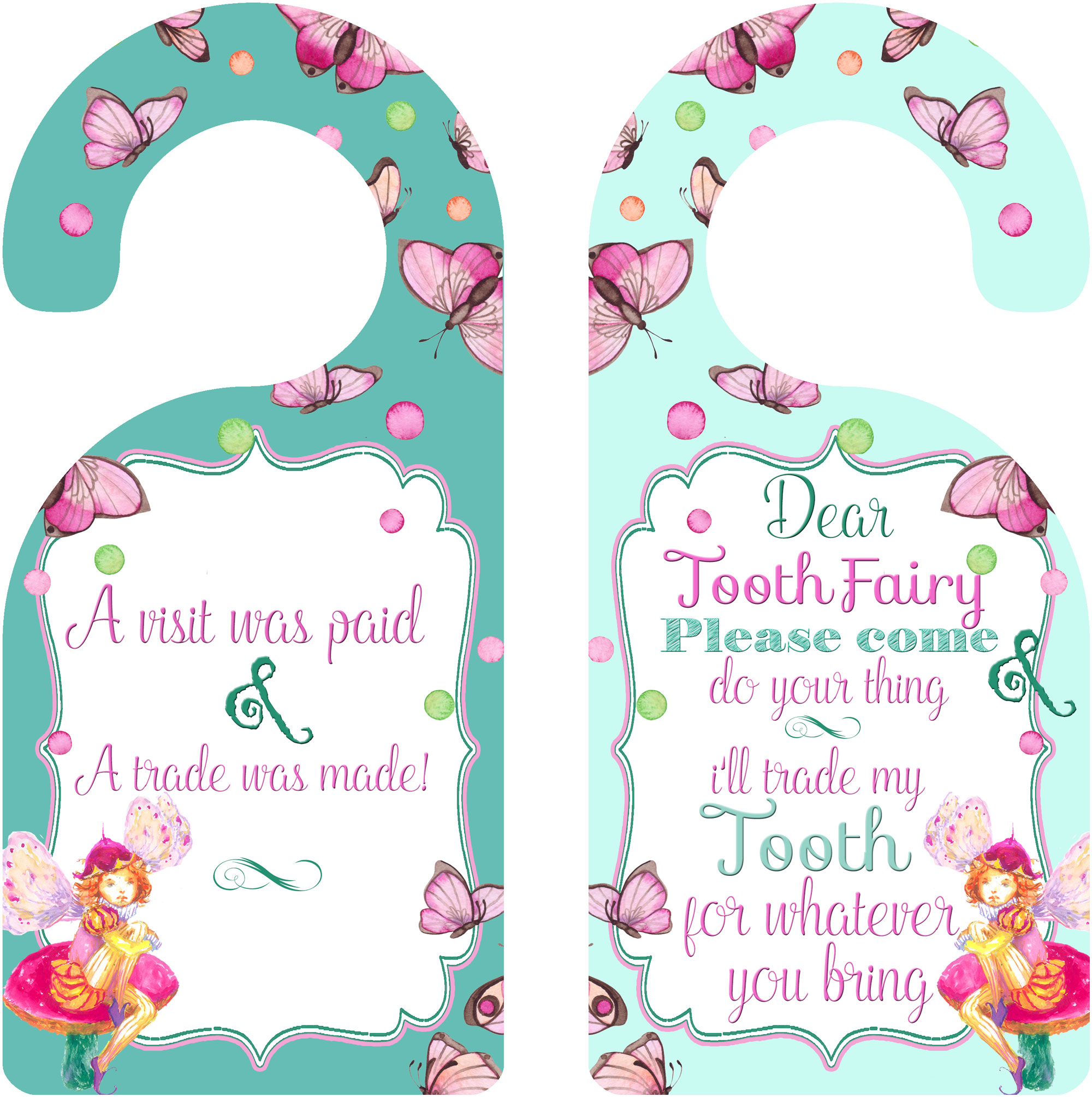 Tooth Fairy Decoration Girl Room Decor for Kids door knobs ...