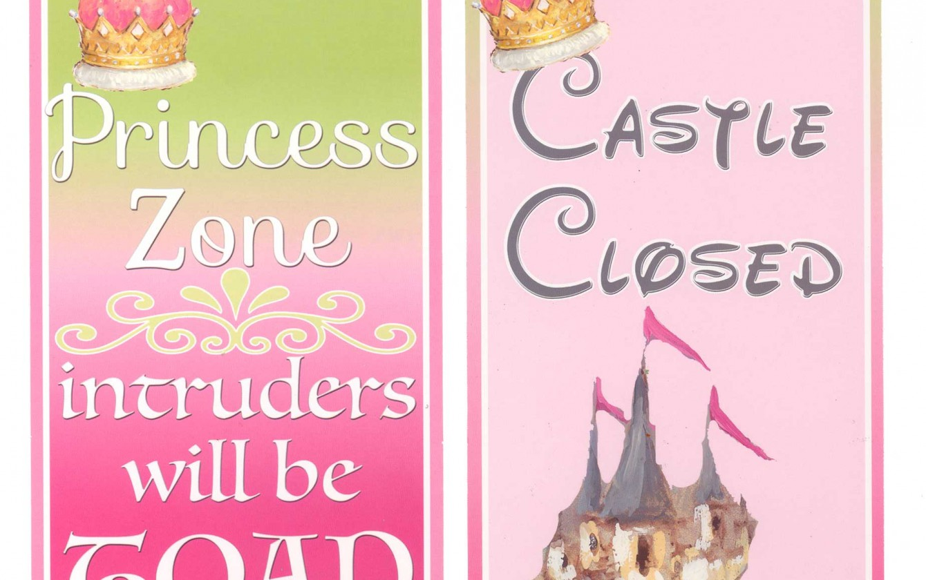 Girl Room Decor Princess Zone Door Hanger For Kids Door
