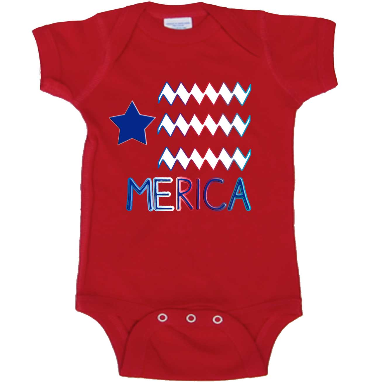 2788d10f Merica Baby Bodysuit Patriotic 4th of July - Mumsy Goose