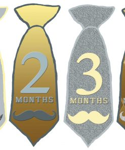 Baby Boy Necktie Month Stickers