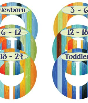Boy Surfer Nursery Closet Dividers