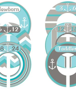 Nautical baby clothes sizers