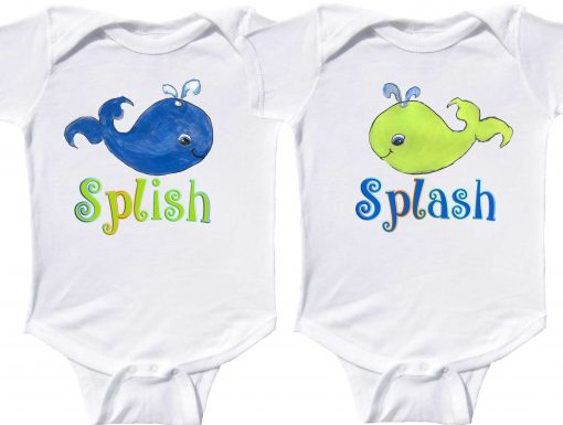 Twin Baby Boy Bodysuits Whales