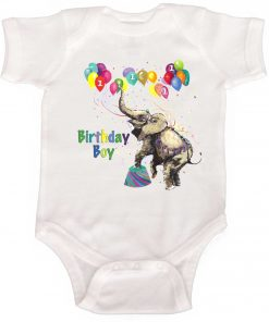 Boys Circus Birthday Romper