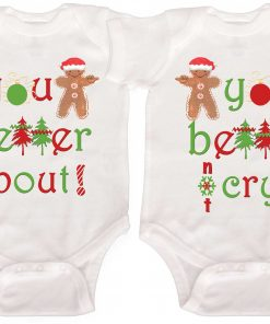 Funny Twin Christmas Rompers