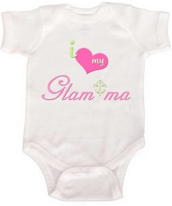 Glam ma Baby Bodysuit Girl