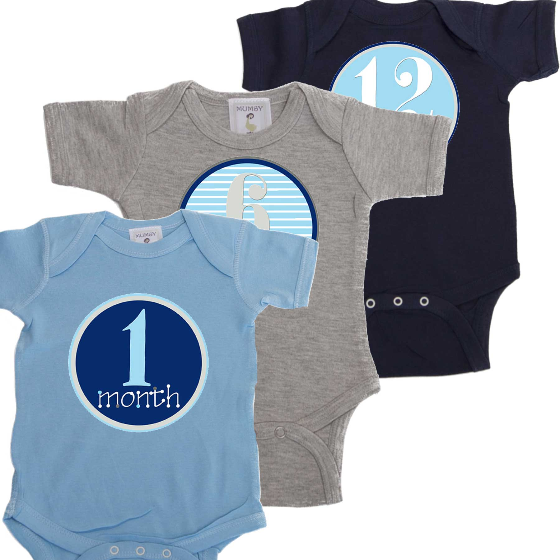 4a4cca2e8 Boy 12 Month Stickers with matching Bodysuits