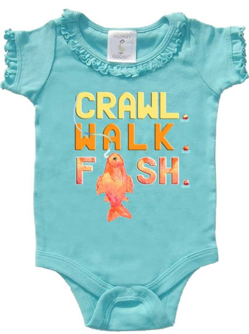 Funny Girl Fishing Bodysuit