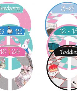 Custom Baby Closet Dividers Alice in Wonderland