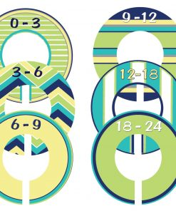 Custom Baby Closet Dividers Navy Lime Nursery