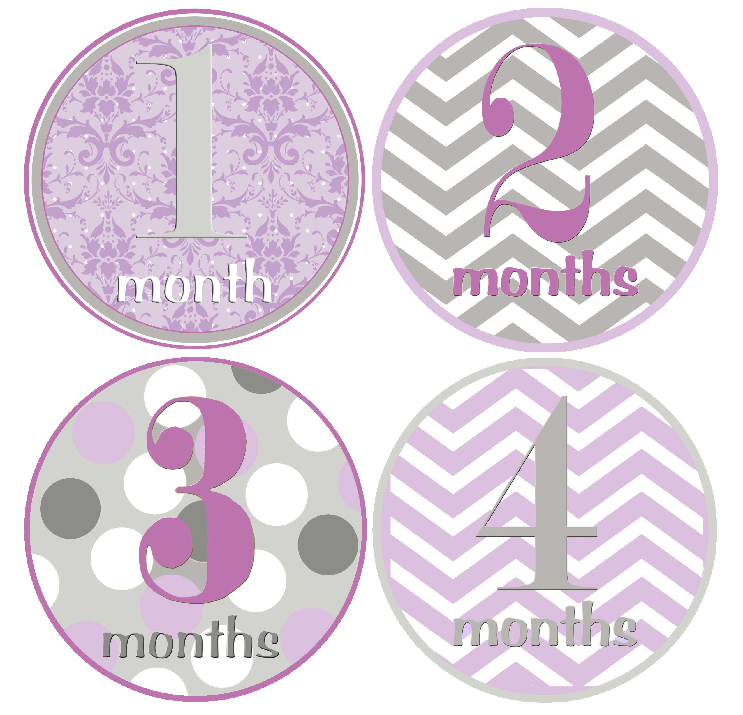 photograph relating to Baby Month Stickers Printable known as Boy or girl Female Thirty day period Stickers Woman 1st yr Milestones Chevron Print Red Gray 1-12 Thirty day period Age Labels
