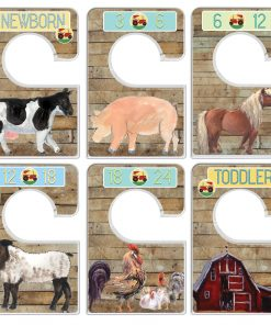 Custom Baby Closet Dividers Barnyard Nursery