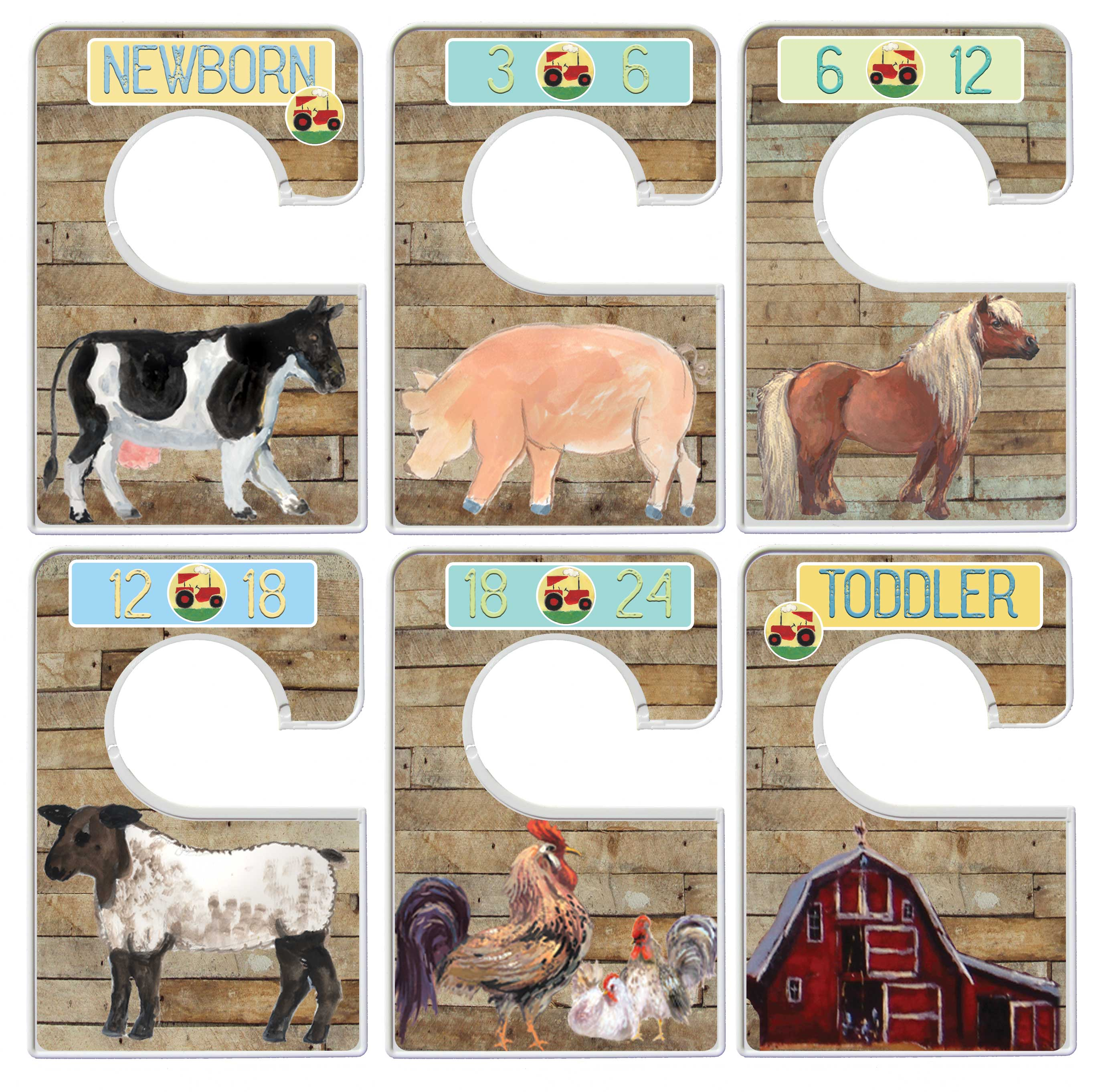 Custom Baby Closet Dividers Barnyard Nursery Infant Clothes Organizers Shower Gift Country Boy