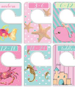 Custom Baby Closet Dividers Beach Baby Girl Nursery