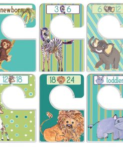 Custom Baby Closet Dividers Safari Nursery