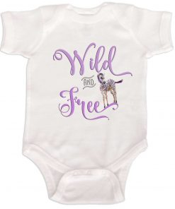 Wild and Free Baby Girl Bodysuit