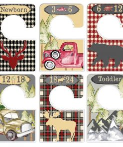 1b85bd084 Custom Baby Closet Dividers Woodland Nursery Infant Clothes Organizers Baby  Shower Gift Lumberjack Baby Boy
